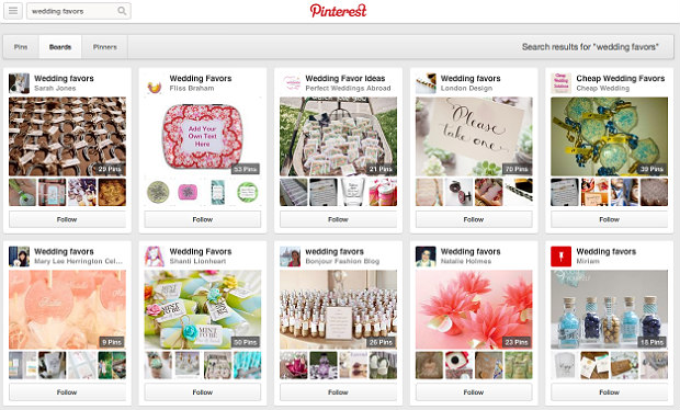 Pinterestで「wedding favors」を検索