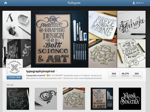 Typography Inspired!のInstagram