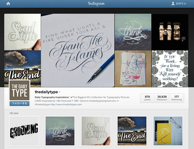 Daily Typography InspirationsのInstagram